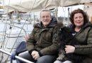 Holländska seglare övervintrar vid bryggan